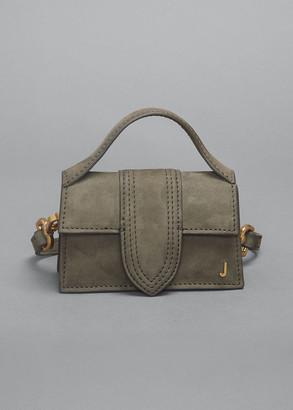 Jacquemus Le Petit Bambino Suede Top Handle Bag