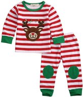 Lily.Pie Baby Boys Girls Reindeer Christmas Outfits Toddler Pajamas Clothes (1Years, )