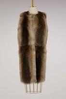 Yves Salomon Merinos and fur long coat