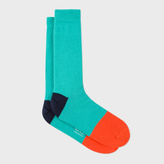 Paul Smith Men's Green Colour Block Socks