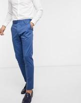 Asos Design DESIGN wedding skinny suit pants in blue stretch cotton