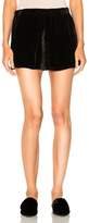 Raquel Allegra Velvet Running Short in Black.