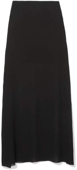 Ann Demeulemeester Georgette Maxi Skirt - Black