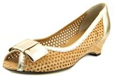 VANELi Birkey Women US 9.5 Tan Peep Toe Wedge Heel