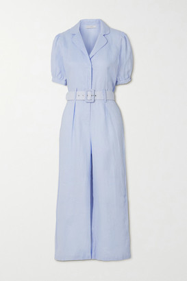 Faithfull The Brand Net Sustain Frederikke Belted Linen Jumpsuit - Sky blue