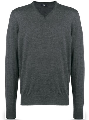 Fay V-neck long-sleeved jumper