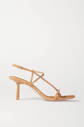 Studio Amelia 2.5 Croc-effect Vegan Leather Sandals - Neutral