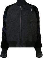 Sacai calligraphy embroidered bomber jacket
