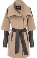 Jane Norman Tan PU Zip Detail Coat