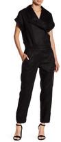 Fate Notch Collar Short Sleeve Jumpsuit