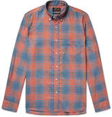 Beams Button-Down Collar Checked Woven Shirt