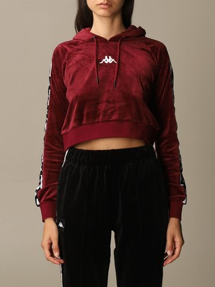 Kappa Sweatshirt Authentic Usa Cropped Sweatshirt With Logo