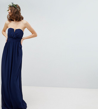 TFNC Tall Tall Bandeau Maxi Bridesmaid Dress-Navy