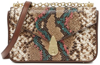 Calvin Klein Gypsy Snake Embossed Leather Crossbody Bag