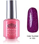 Perfect Summer Quick Drying 8ml Sweet Pink Bottle Colors Long Wearing UV Led Soak Off Gel Polish French Nails Lacquers for Teens Girls #195 dark purple