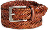 Tasso Elba Men's Dome-Strand Leather Belt, Created for Macy's
