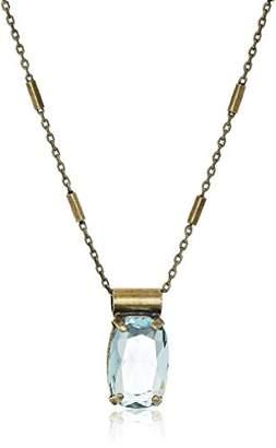 Sorrelli Rectangle Crystal Pendant Necklace