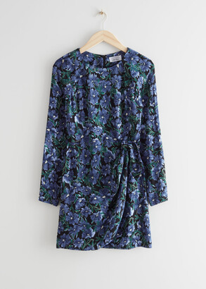 And other stories Floral Print Mini Dress