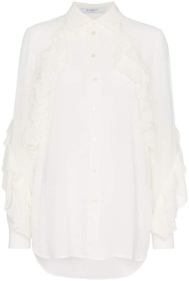 Givenchy ruffle button down shirt