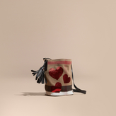 Burberry The Small Ashby in Canvas Check with Sequinned Hearts
