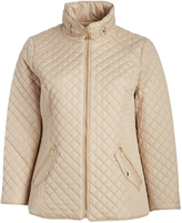 Ellen Tracy Pink Quilted Puffer Jacket - Plus