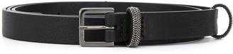 Fabiana Filippi Bead-Embellished Skinny Belt