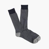 J.Crew Tipped microstriped socks