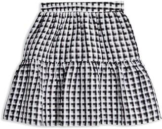 Topshop Sheer Check Miniskirt