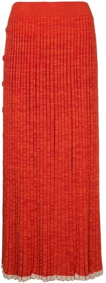 CHRISTOPHER ESBER Button-Detail Pleated Knit Maxi Dress