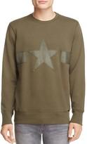 Diesel Leather Trim Star Sweatshirt