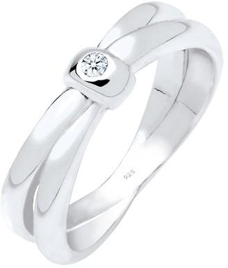 Diamore Women's 925 Sterling Silver 0.03 ct White Diamond Ring