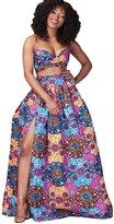 Maxwell Women's African Printed High Waist Long Maxi Skirt