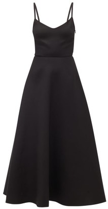 Valentino V-neck A-line Wool-blend Dress - Black