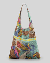 Cynthia Vincent Parrot Scarf Shopper Bag