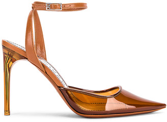 Givenchy Couture Stiletto Ankle Strap Heels in Cognac | FWRD