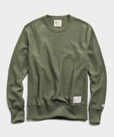 Todd Snyder + Champion Terry Reverse Weave Crew in Washed Olive
