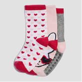 Joe Fresh Toddler Girls' 3 Pack Sophie Print Socks