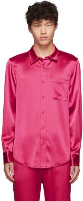 Sies Marjan Pink Crinkled Satin Sander Shirt