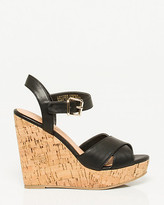 Le Château Leather-Like Cork Wedge Sandal