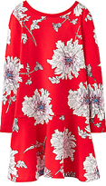 Joules Little Joule Girls' Floral Peony Dress, Red