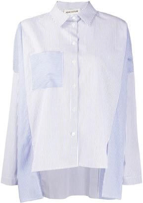 Semi-Couture Contrast Stripe Print Shirt