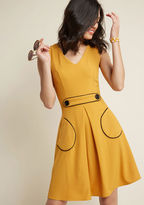 ModCloth Obsessed With Retro A-Line Dress in Marigold in M