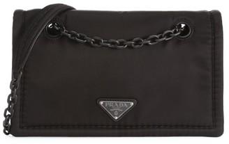 Prada Tessuto Nylon Chain Shoulder Bag