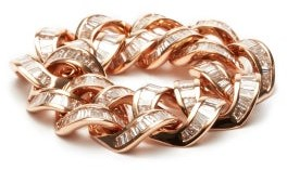 Shay Diamond & 18kt Rose-gold Chain-link Ring - Rose Gold