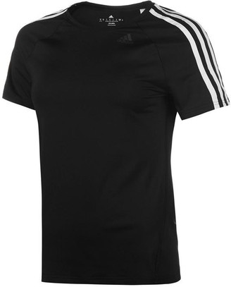 adidas D2M 3 Stripe T Shirt Ladies