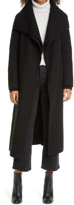 Line Maryn Wool Blend Wrap Coat