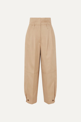 Givenchy Woven Tapered Pants - Beige