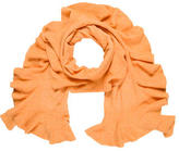 Magaschoni Ruffle-Accented Cashmere Scarf