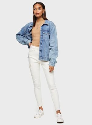 Miss Selfridge Ivory Cargo Pocket Skinny Jeans