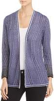 Nic+Zoe Striped Space Open-Front Cardigan